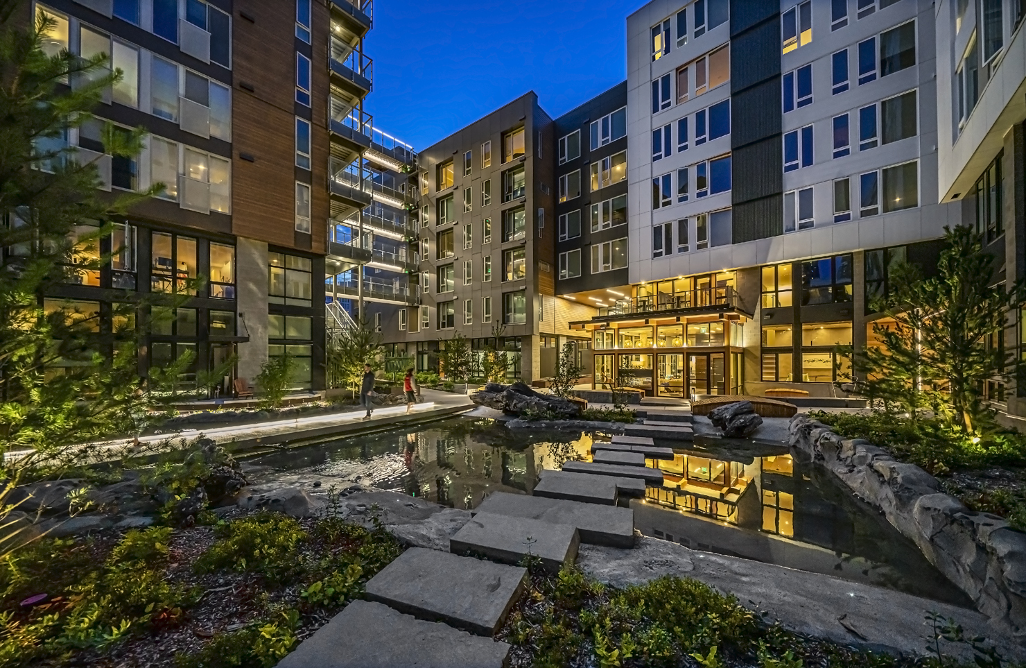 Sitka Apartments Courtyard
