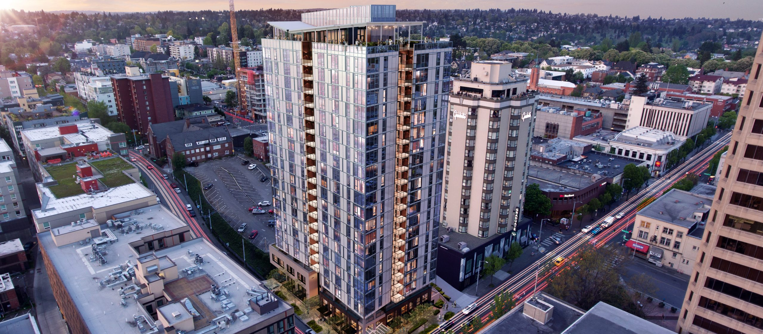 1200 NE 45th Street Tower Rendering