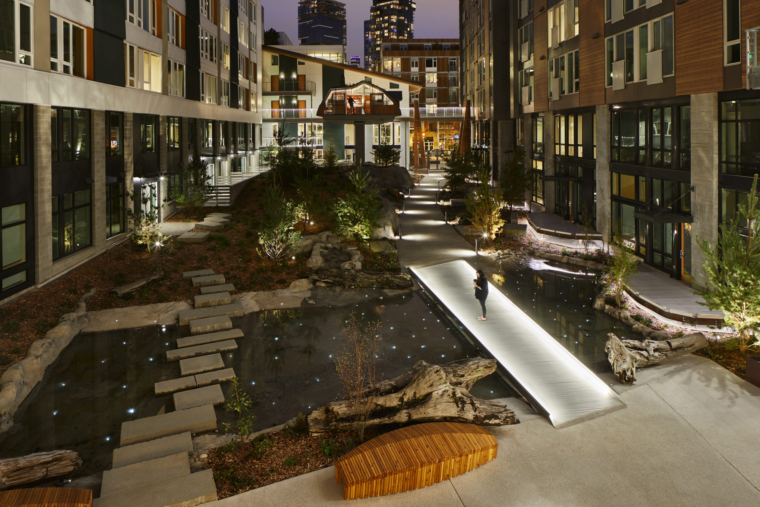 Sitka Courtyard - dusk